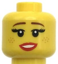 Lego mini figure 1 Yellow head with face and black hair #28