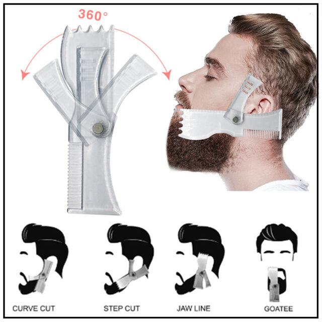 Rotating Portable Styling Comb Tool Beard Shaver Tool Beard Shaping Template