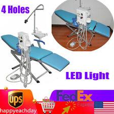 Portable Dental Folding Chair With Led Light Amp Turbine Unit Amp Weak Suction 4 Holes