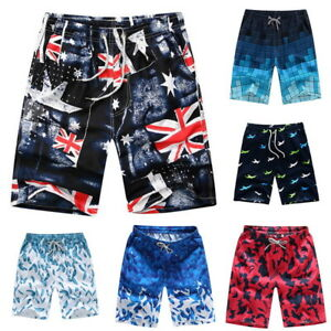 Men-Multi-Color-Boardshorts-Surf-Beachwear-Shorts-Swim-Sports-Trunks-Pants