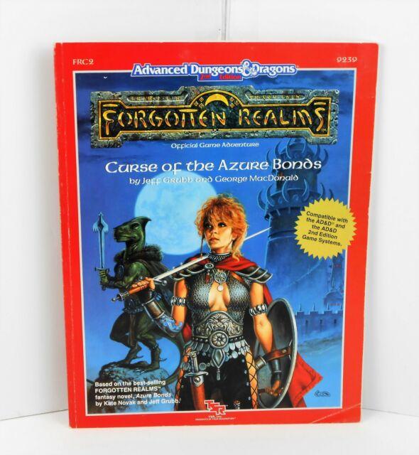 1989 TSR9239 AD&D FRC2 Forgotten Realms Curse of the Azure Bonds, VG