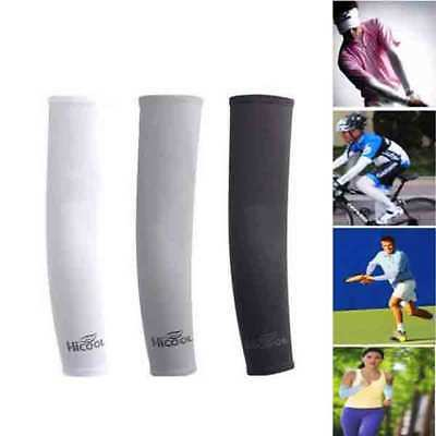 New Cooling Arm Sleeves Cover UV Sun Protection Basketball sports Stretch 1 Pair