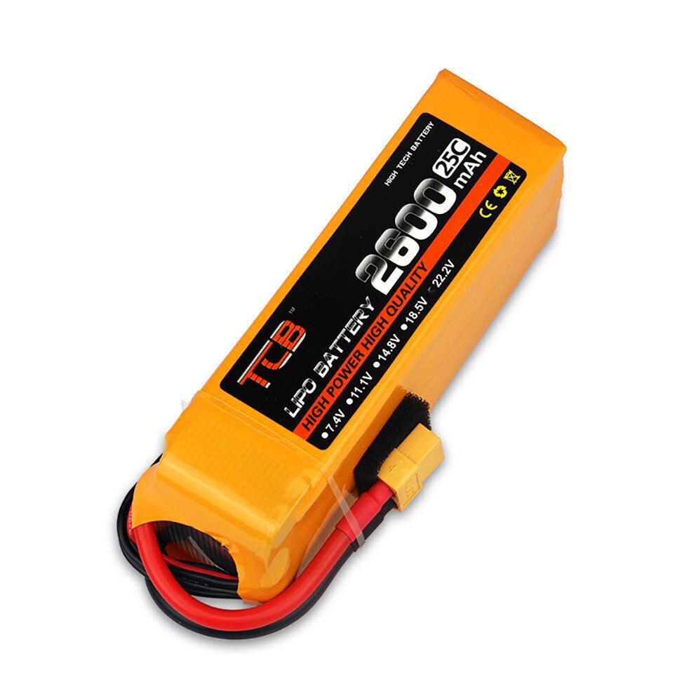 22.2V 6S 2600mAh 25C  LiPO Battery XT60 PLUG Burst 40C RC modellolo Lipolymer energia  sport caldi