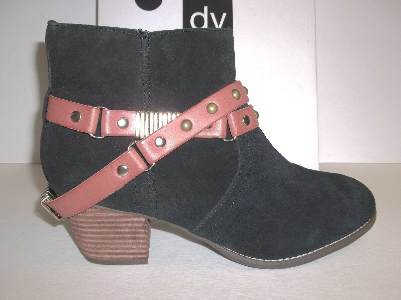 Dolce Vita DV Size 7.5 M Jacy Black Suede Ankle Boots New Womens Shoes