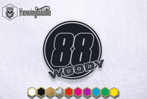 2x Custom Race Numbers Text Name Union Jack Mx Quad Car Van Window Sticker Decal