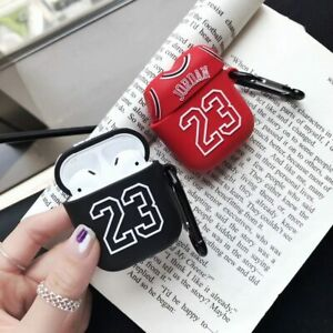 Jordan 23 Basketball Apple Airpods Case Headset Accessories Silicone Protector Ebay