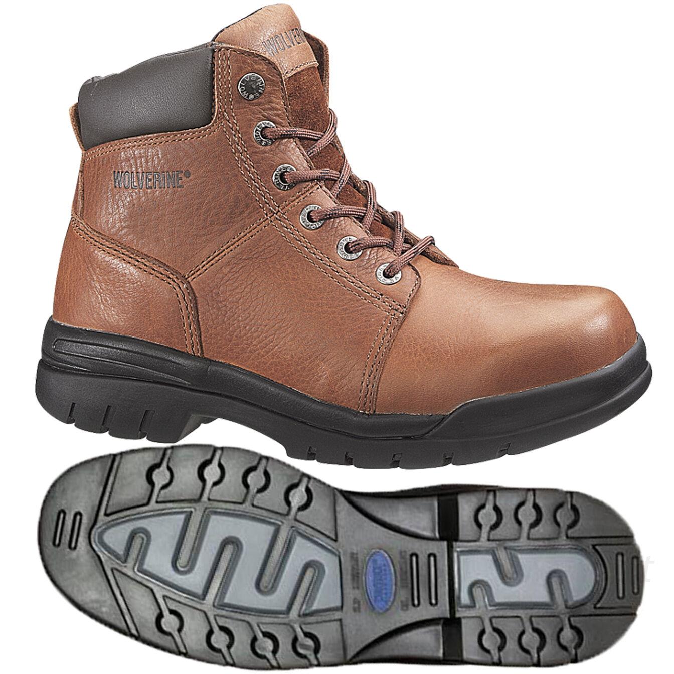 Wolverine work Stiefel Mens Marquette braun Leather Leather Leather Steel-Toe Stiefel EH 6  W04713 6c0e14