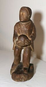 antique-1800-039-s-Folk-Art-hand-carved-wood-figural-man-sculpture-statue-figure