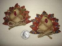 Miniature Thanksgiving Turkey Pin Ornament Quilt Pattern