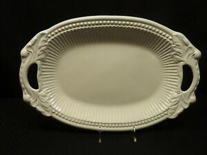 White American Atelier Ruffle Serving Platter
