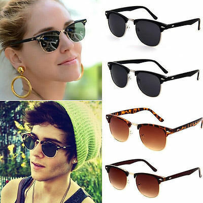 Lady Mens Retro Vintage Shades Frame Eyewear Sunglasses Glasses SC