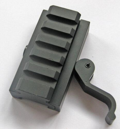 HOT Adapter 5 Slots Fit 20mm Picatinny Weaver Rail Base Hunting Gun Accessories