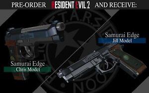 Details about Resident Evil 2 Remake PC Pre-Order Samurai Edge Chris & Jill  Bonus Pistols DLC