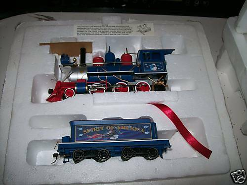 Hawthorne Village Spirit of America Treno gree set COA