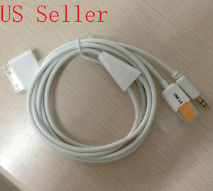 30pin-Dock-To-3-5mm-Car-AUX-Audio-USB-charger-Cable-For-iPhone-3G-3GS-4-4S-iPod