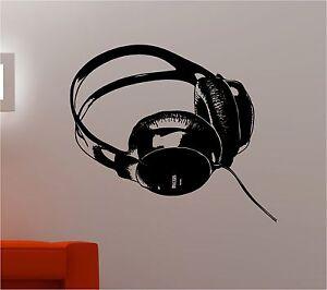 Dj Headphones Music Kids Wall Art Sticker Decal Bedroom Ebay
