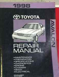 1998 toyota avalon service repair workshop shop manual factory oem rh ebay com 1998 toyota avalon repair manual 1998 toyota avalon manual pdf