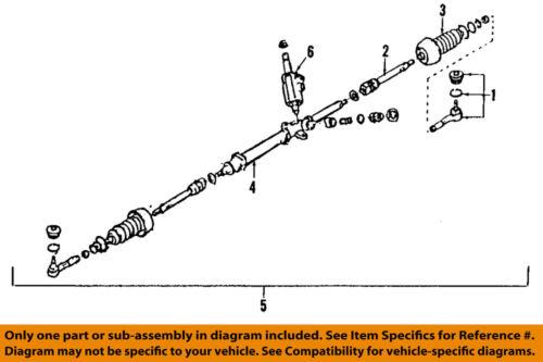 SUBARU OEM 98-09 Legacy Steering Gear-Outer Tie Rod End 34141AC0109E