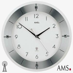 Dettagli su Ams 36 Radio Orologio Parete Alluminio Orologio da Cucina  Ufficio Radio 919