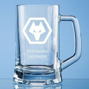 Wolverhampton Wanderers F.C - Personalised Small Plain Straight Sided Tankard (C