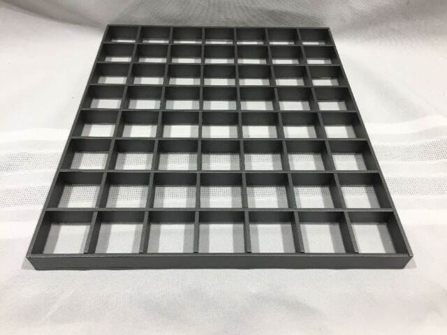 LOT OF 20-FLAT JEWELRY COUNTER TOP DISPLAY TRAYS-56 SLOT-11.5