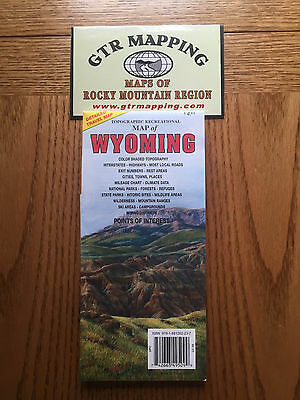 GTR Mapping Topo Recreational Map of Wyoming ISBN 978-1881262-237