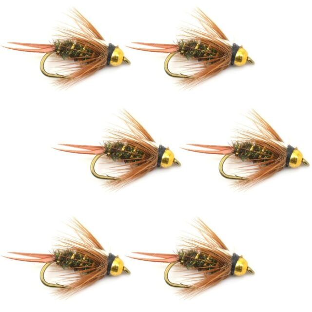 Trout and Bass Wet Fly Pattern The Fly Fishing Place Bead Head Pheasant Tail Nymph Fly Fishing Flies 6 Flies Hook Size 16