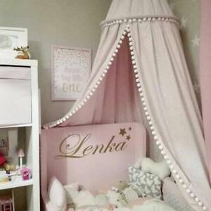 Princess-Crown-Bed-Canopy-Bedcover-Kids-Girls-Insect-Mosquito-Round-Cotton-Net