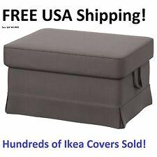 Ikea EKTORP Footstool / Ottoman Slipcover Cover NORDVALLA GRAY New! Sealed!