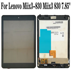 Black Color : Black HUFAN LCD Screen and Digitizer Full Assembly with Frame for Lenovo Miix 3-830
