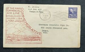 1947-Bushnell-Florida-Commemorative-Airmail-Cover-to-Tampa-Florida
