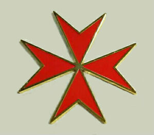 Medieval Malta Maltese Red Cross Crusade Knight Medal Badge Pin War Battle KT KC