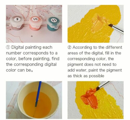 Classical Colorful Elephant Propylene Paint By Numbers Kits For Adults DIY Tools