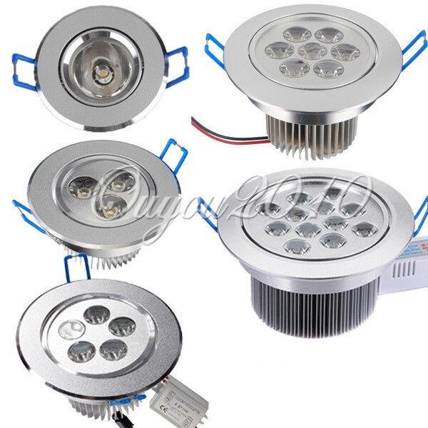 3W/5W/7W/12W LED Downlight Ceiling Spot Recessed Light Lamp Bulb + Driver NEW