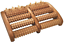 Croll-amp-Denecke-Fussroller-aus-Holz-2-x-5-Rollen-Fuss-Massage-Geraet-Dual-Roller Indexbild 1