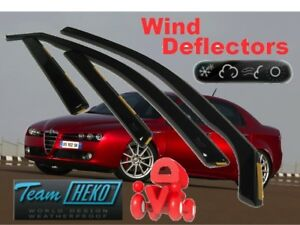 ALFA-ROMEO-159-SALOON-SEDAN-4-doors-Wind-deflectors-4-pc-HEKO-10119