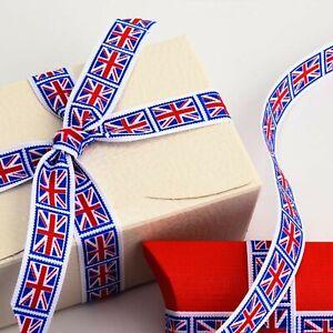 in 3 metre lengths Ribbon flag UK United Kingdom width 10 mm