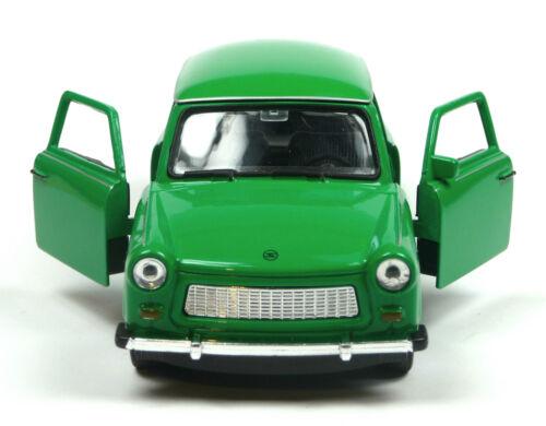 Jubiläums-Edition 50 Jahre Trabant 601 Modellauto 11cm WELLY Sonderfarbe grün