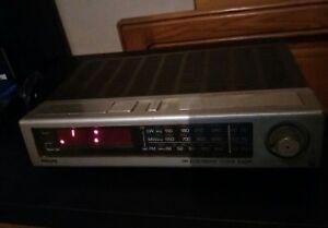 Radio-sveglia-della-PHILIPS-vintage