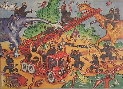Offen Ddr Original Annaberger Puzzle, Feuerwehrübung Im Zoo, 300 Teile, Ovp Rar!