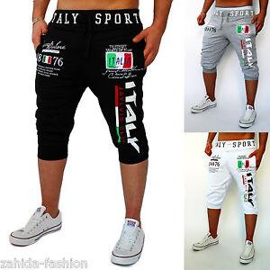 Herren-Damen-Capri-kurze-Hose-Bermuda-WM-Sommer-Short-Italien-Italia-Hose-NEU