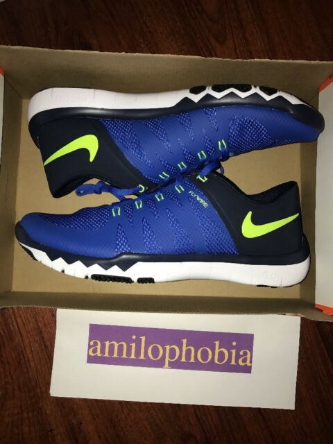 4a156bac3fc4 New Men s Nike Free Trainer 5.0 V6 Size 10 Game Royal White Volt Training  Shoes