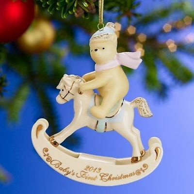 Lenox 2013 Winnie the Pooh Baby's 1st Christmas Ornament ...