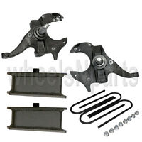 Chevy S10 Drop Spindles & Steel Blocks Suspension Lowering Kit 2 Front 3 Rear