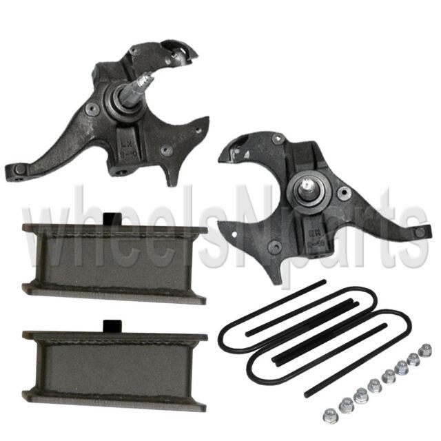 "Chevy S10 Drop Spindles & Steel Blocks Suspension Lowering Kit 2"" Front 3"" Rear"