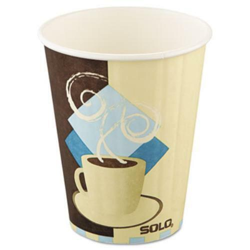 Solo Duo Shield Insulated Hot Cup - 12 Oz - 600 carton - Paper - Beige