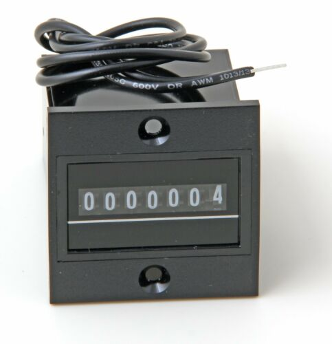 NIB Redington P8-4817 Electro-Mechanical Panel Mount 7-Digit Totalizing Counter