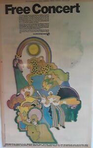 1972 Vintage Newspaper Free Concert John Sebastian BB King Roberta Flack Memphis