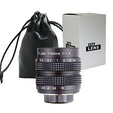 "50mm f/1.4 C Mount 2/3"" CCTV Lens Body Black for M4/3 NEX P/Q FX EOS M N1 mount"