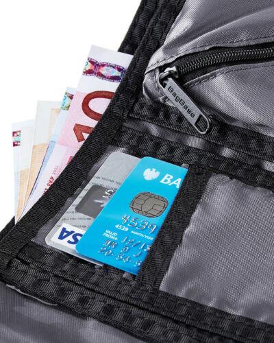 Homme Tri-Fold Ripper Portefeuille Garçons Bottes Velcro Sac de voyage Coin Card Holder